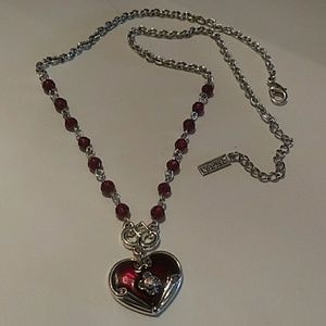 Vintage Napier red beaded necklace chocker